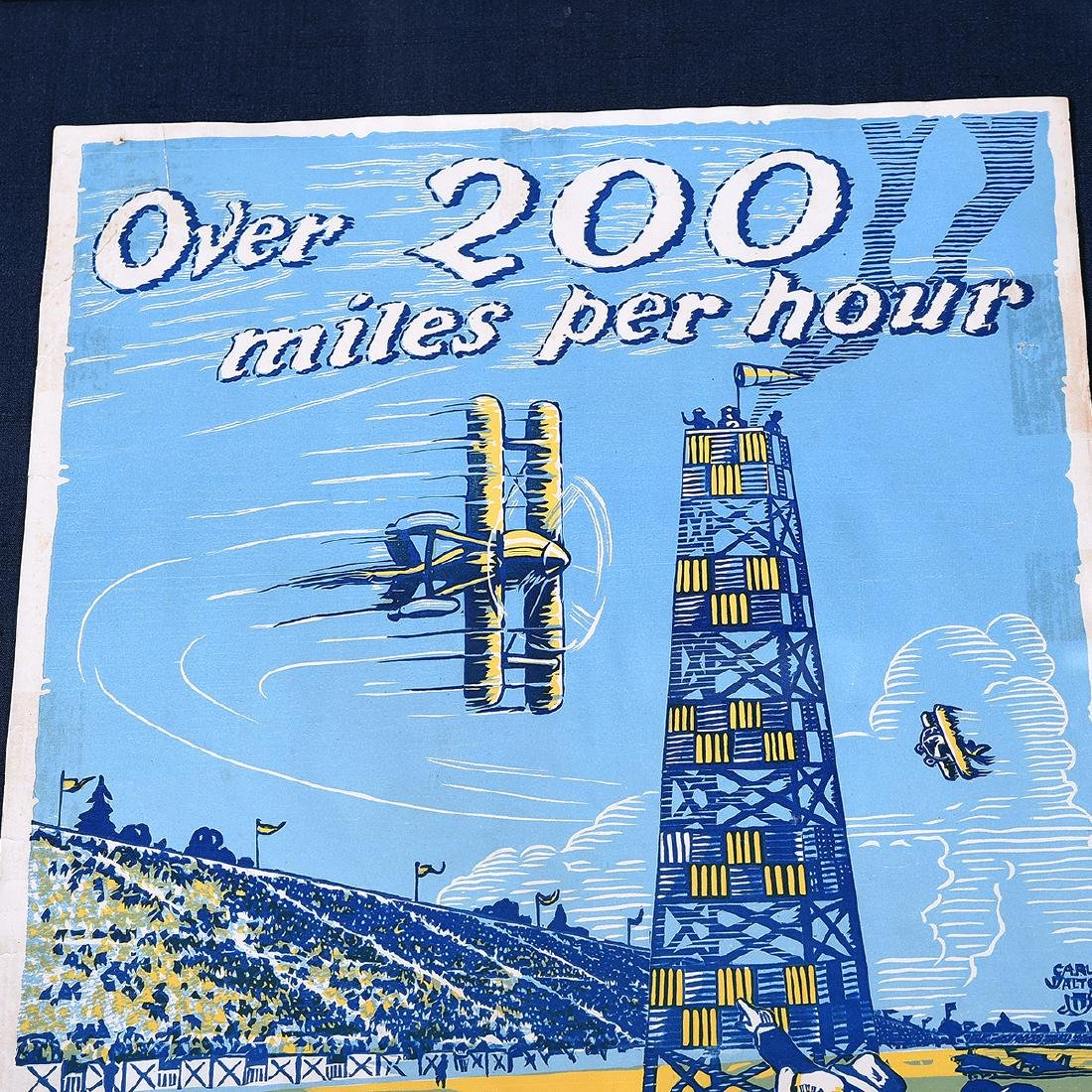 "Carl Walter ""Over 200 miles... International Air Races - 2"