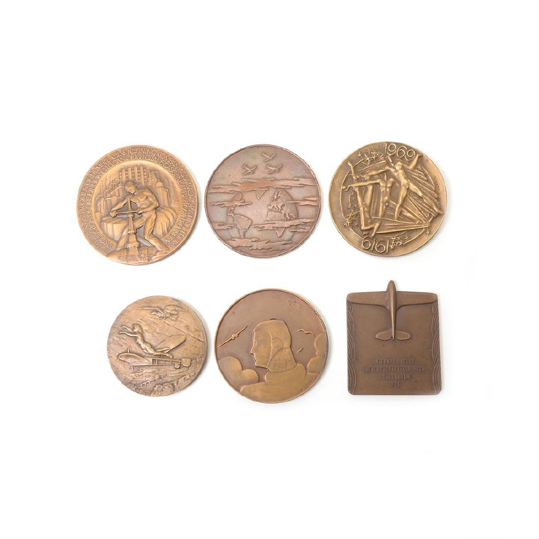 Group of Vintage Aviation Related Medals - 4