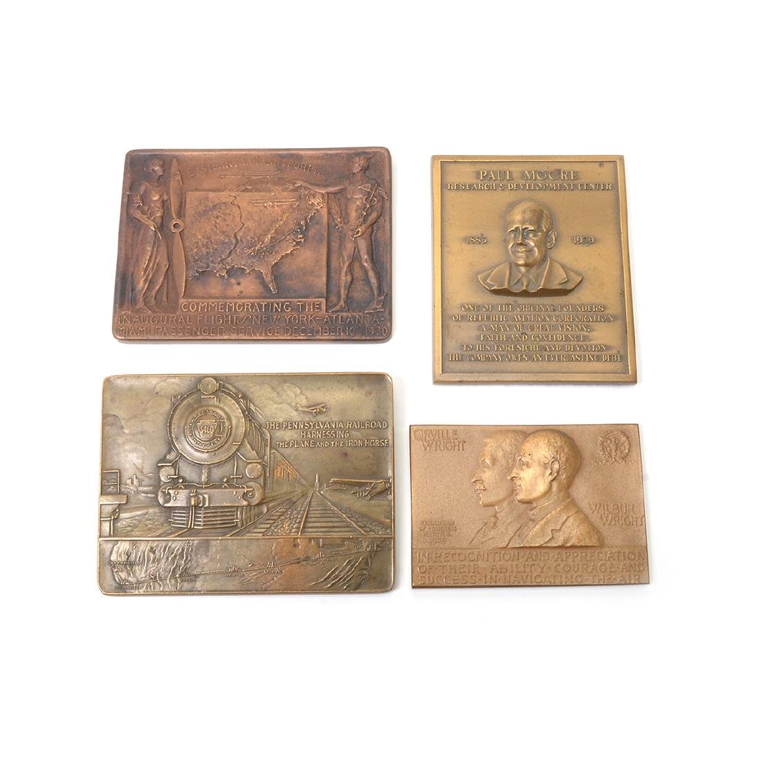Group of Vintage Aviation Themed Metals - 3