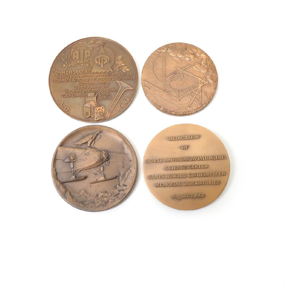 Group of Vintage Aviation Themed Metals - 9