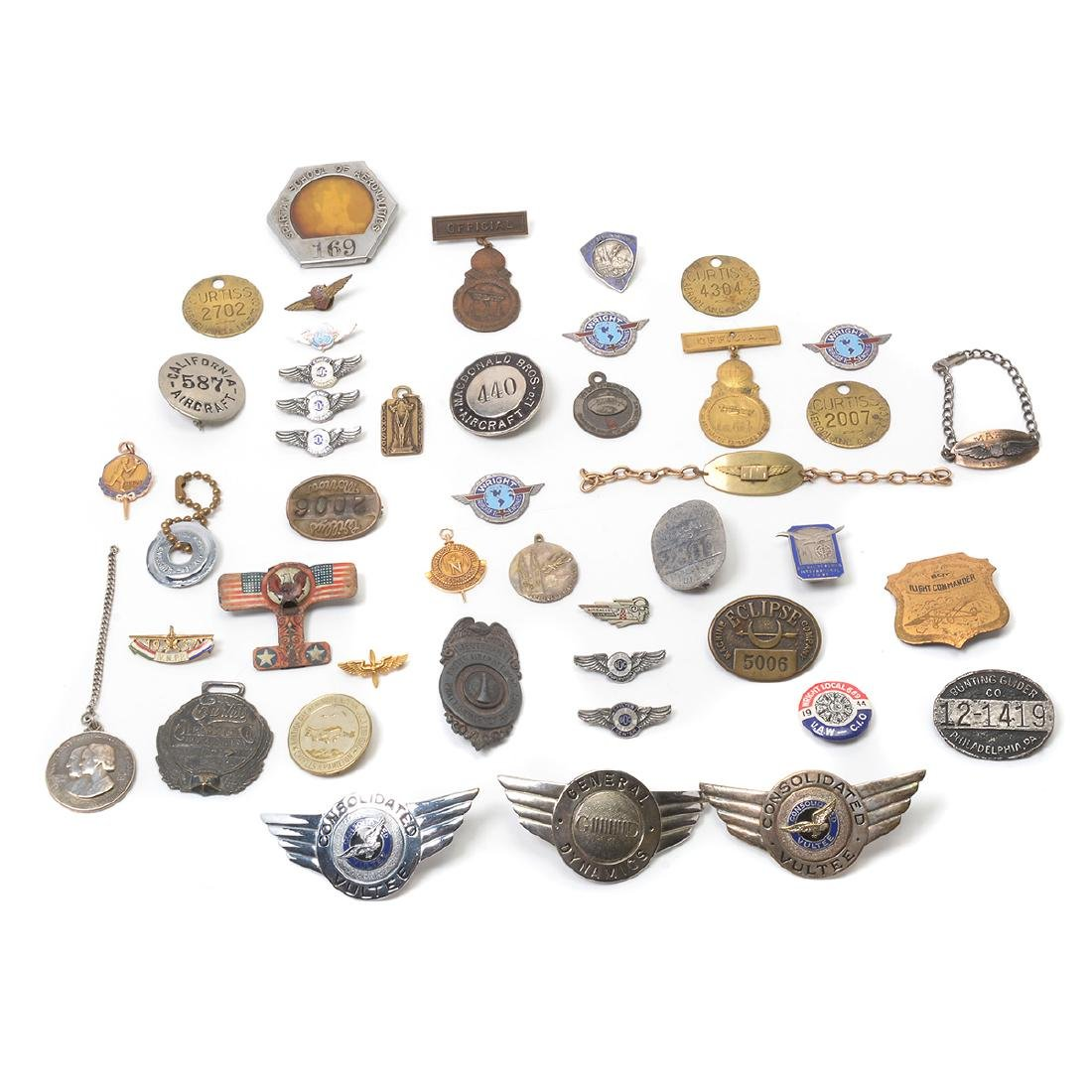 Collection of Aviation Badges, Pins and other