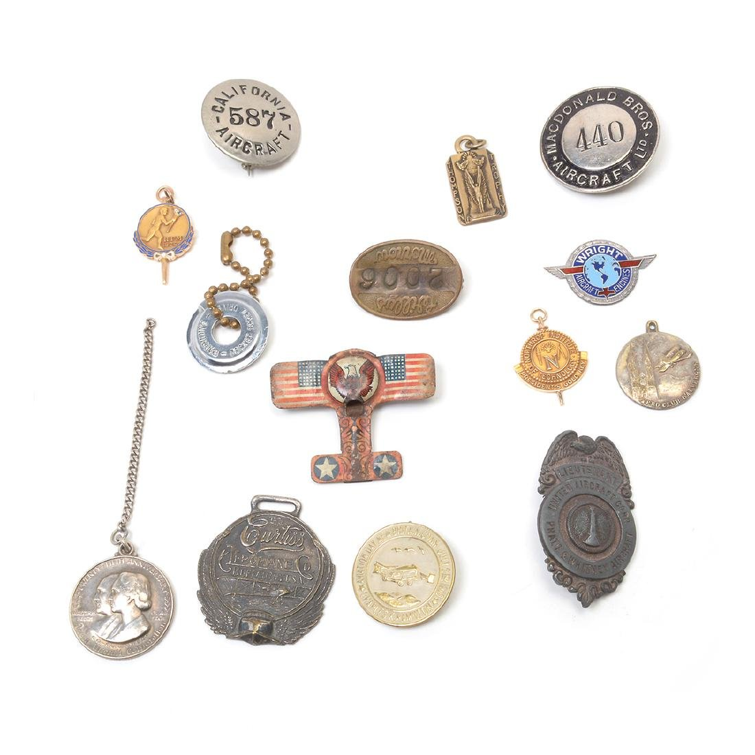 Collection of Aviation Badges, Pins and other - 2