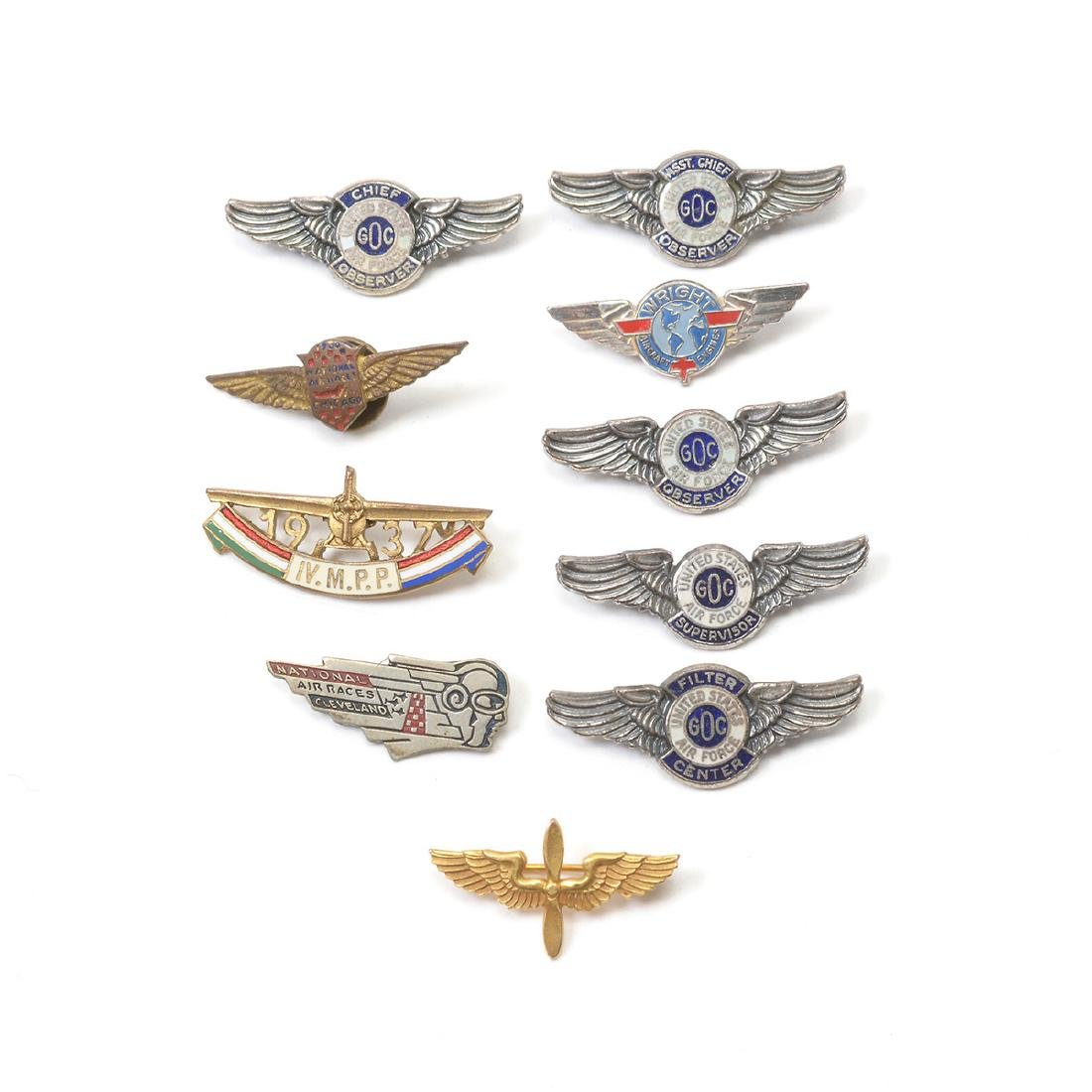 Collection of Aviation Badges, Pins and other - 7