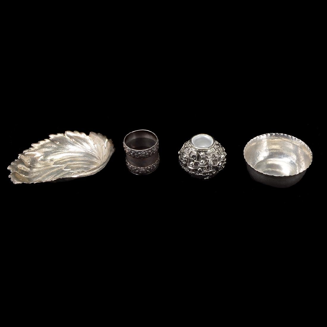 Four Sterling Pieces, Including 19th Century Tiffany