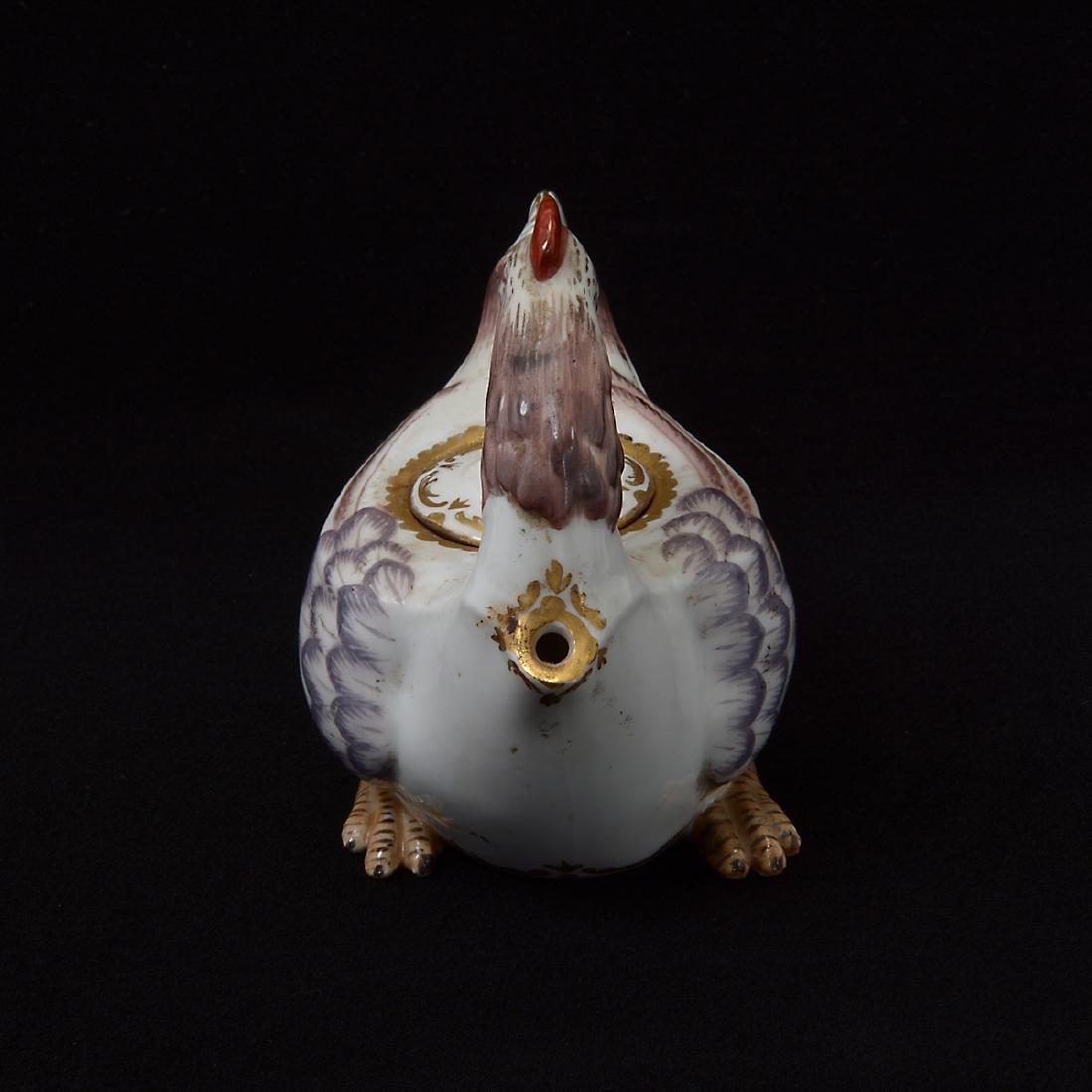Frankenthaler Enameled Porcelain Teapot - 4