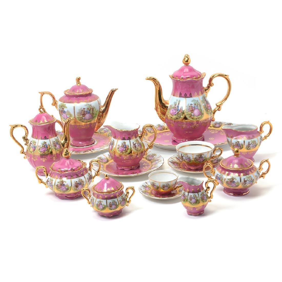 German Pink China Service