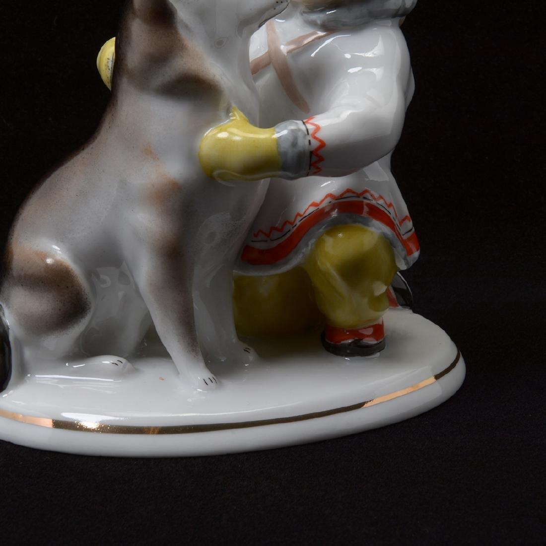 Pair of Lomonosov Porcelain Figures - 4