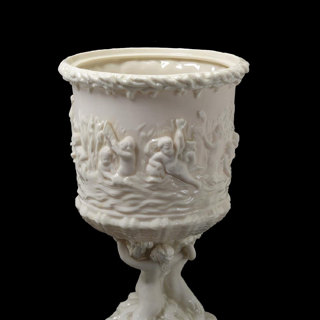 Belleek Prince of Wales Ice Bucket, with Lid - 2