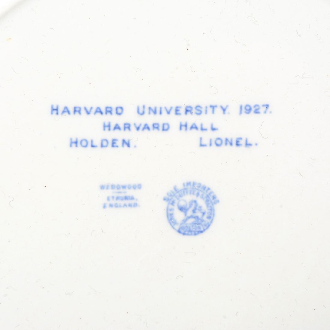 "Twelve Wedgwood ""Harvard University"" Dinner Plates, and - 9"