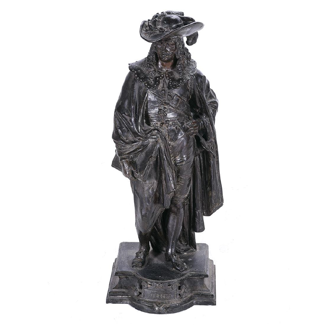 French Bronze Figure of a 17th Century Cavalier, Late