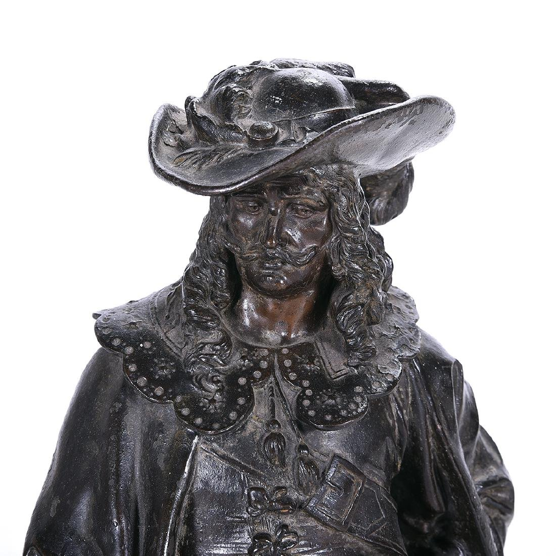 French Bronze Figure of a 17th Century Cavalier, Late - 2