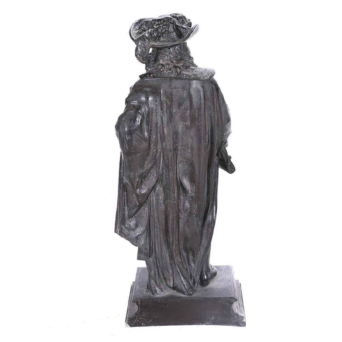 French Bronze Figure of a 17th Century Cavalier, Late - 4