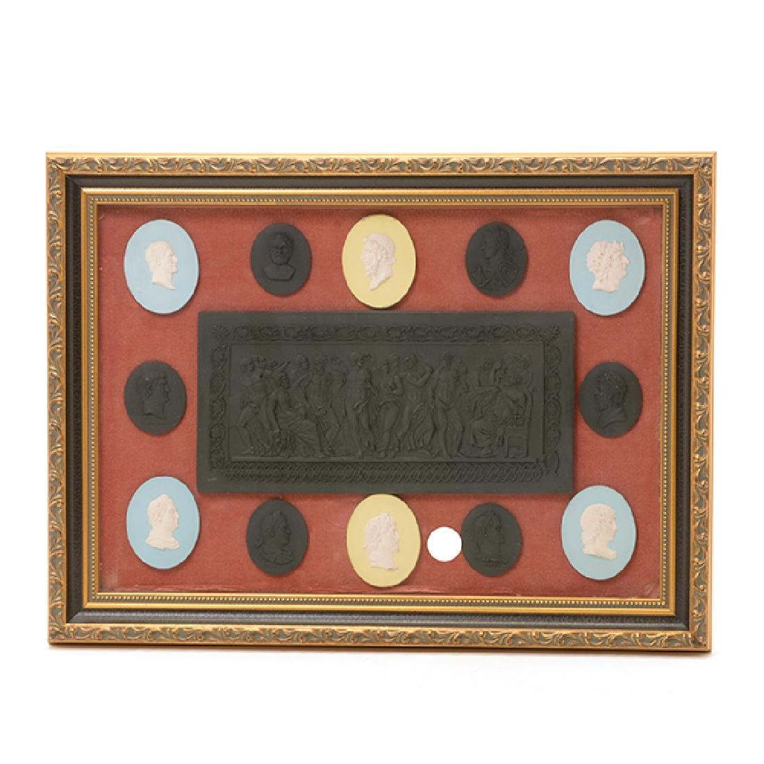 Collection of Jasperware Medallions and Plaque