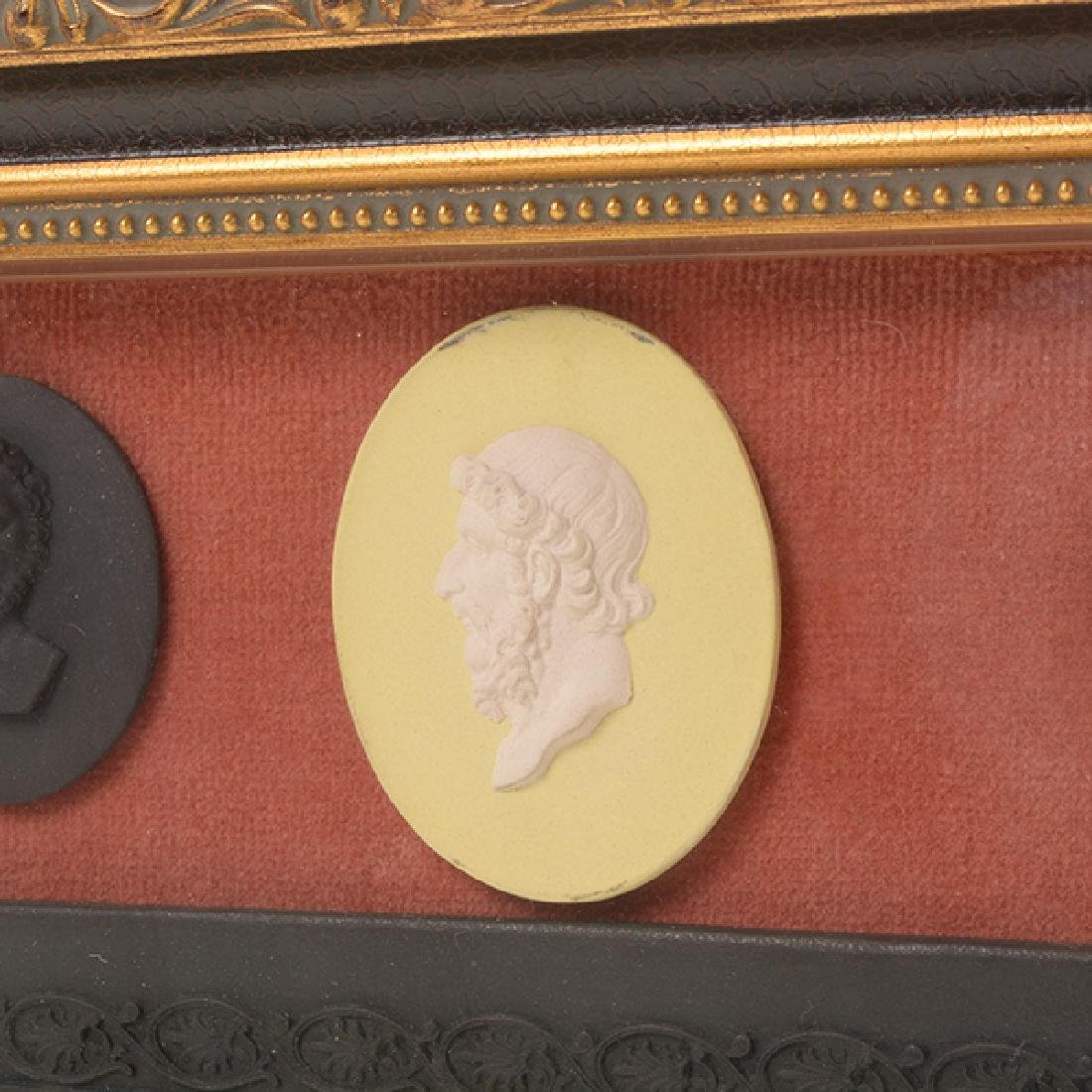 Collection of Jasperware Medallions and Plaque - 4