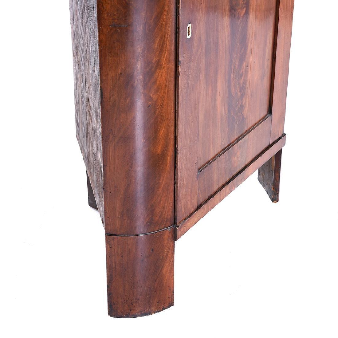 Biedermeier Style Mahogany Corner Cabinet, Horn - 2