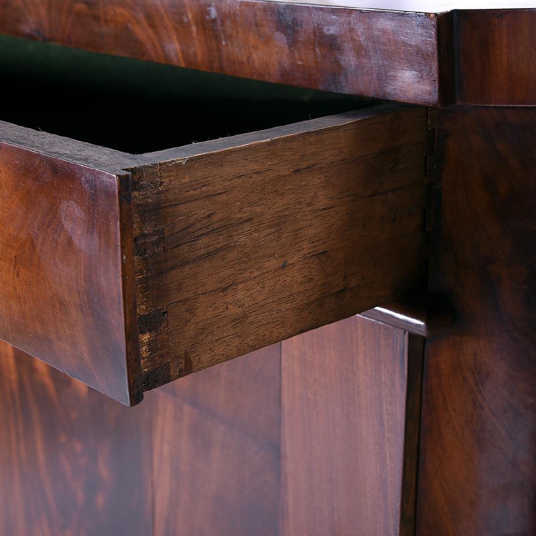 Biedermeier Style Mahogany Corner Cabinet, Horn - 4