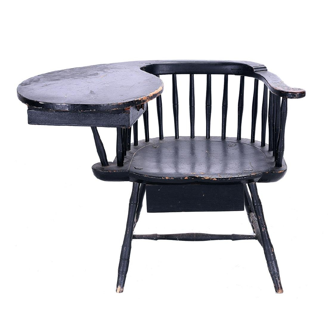 American Painted Writing Arm Windsor Chair