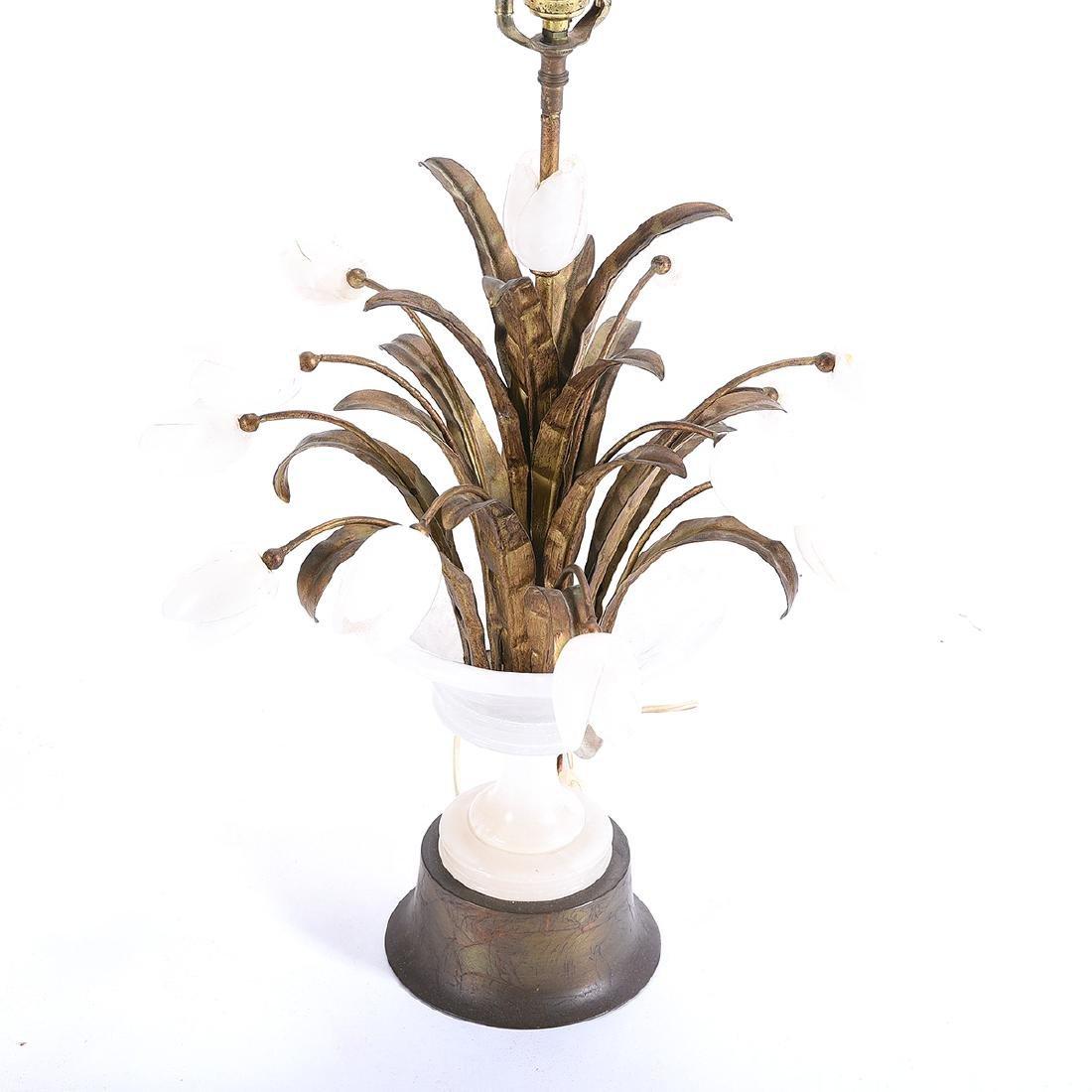 Italian Alabaster Tulip Table Lamp - 2