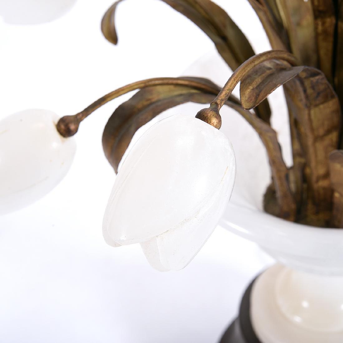 Italian Alabaster Tulip Table Lamp - 5