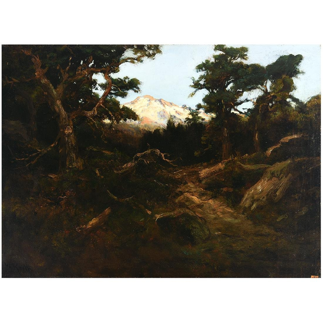 "William Keith ""Mountain Landscape"" oil on canvas"