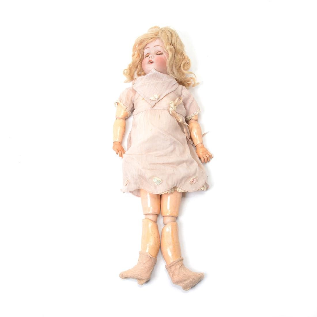 Bisque Head Doll with Doll Trunk - 2
