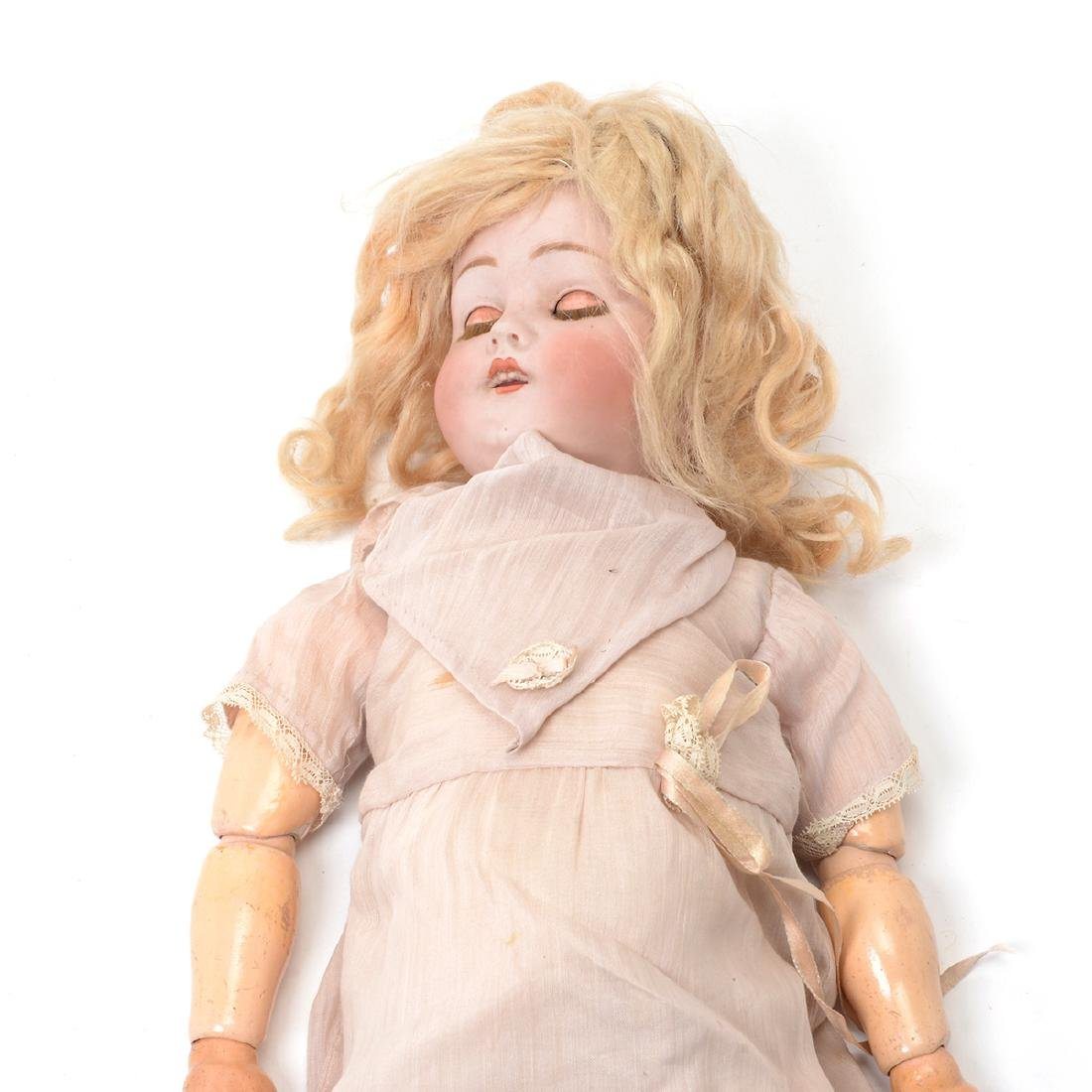 Bisque Head Doll with Doll Trunk - 3