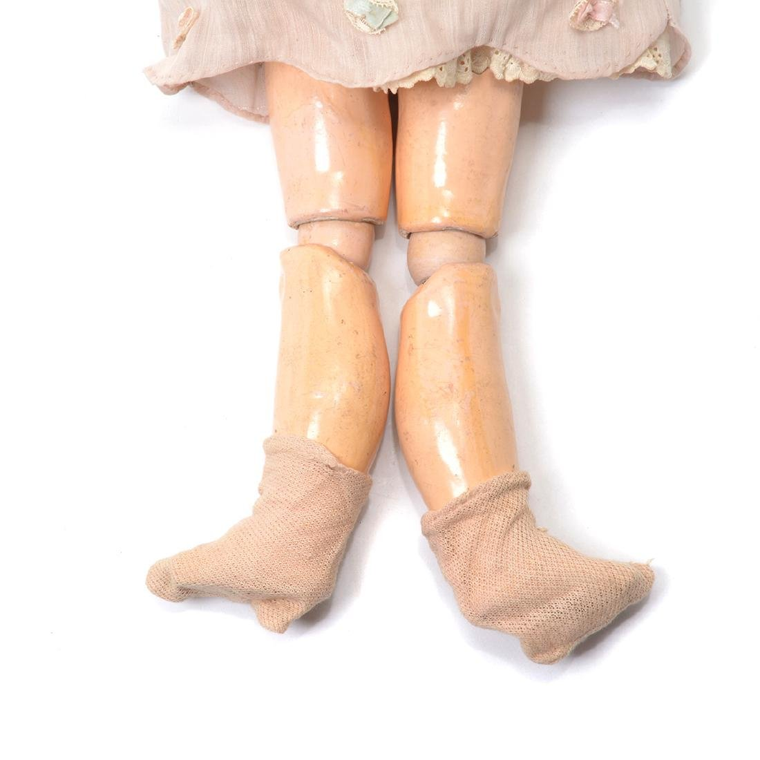 Bisque Head Doll with Doll Trunk - 4