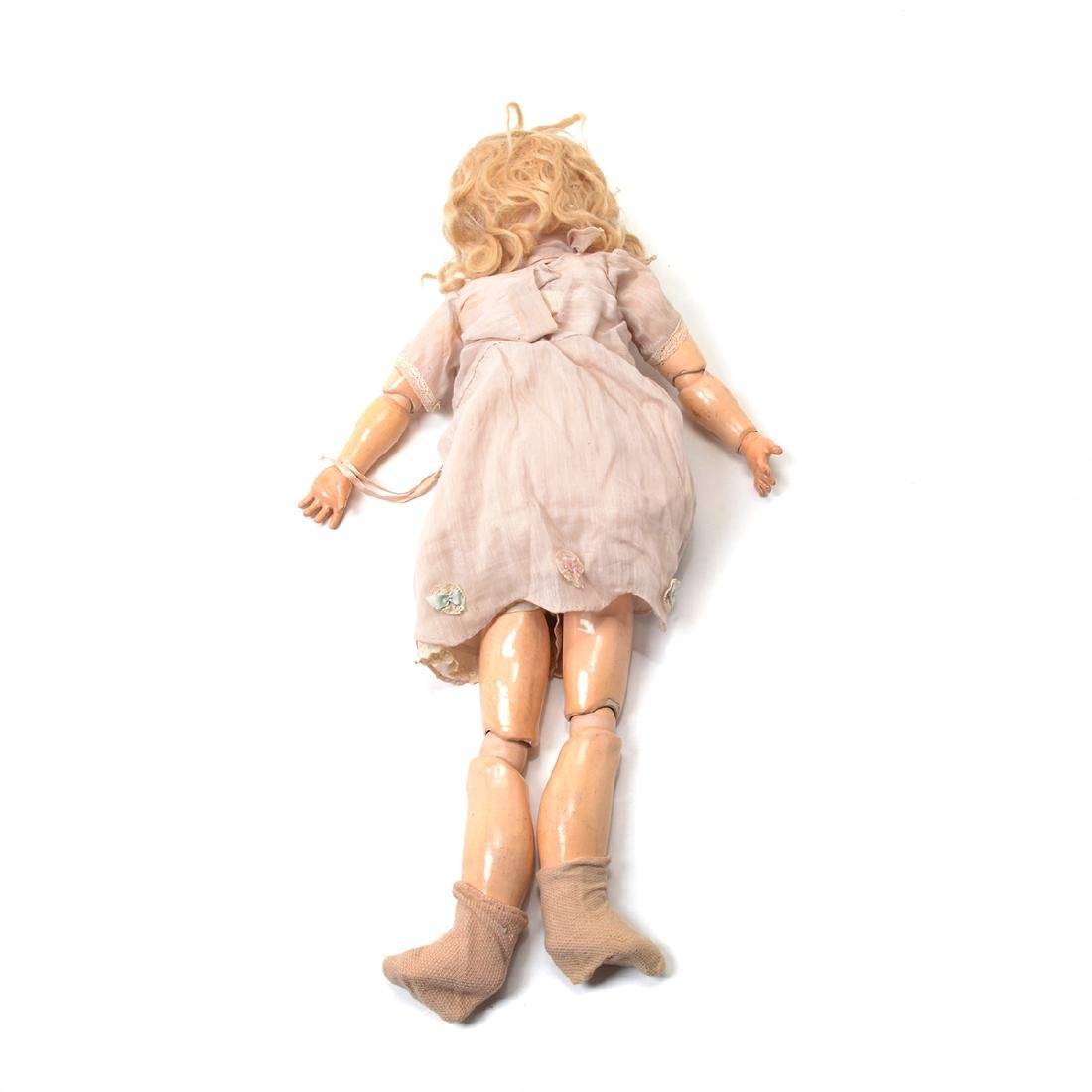 Bisque Head Doll with Doll Trunk - 7