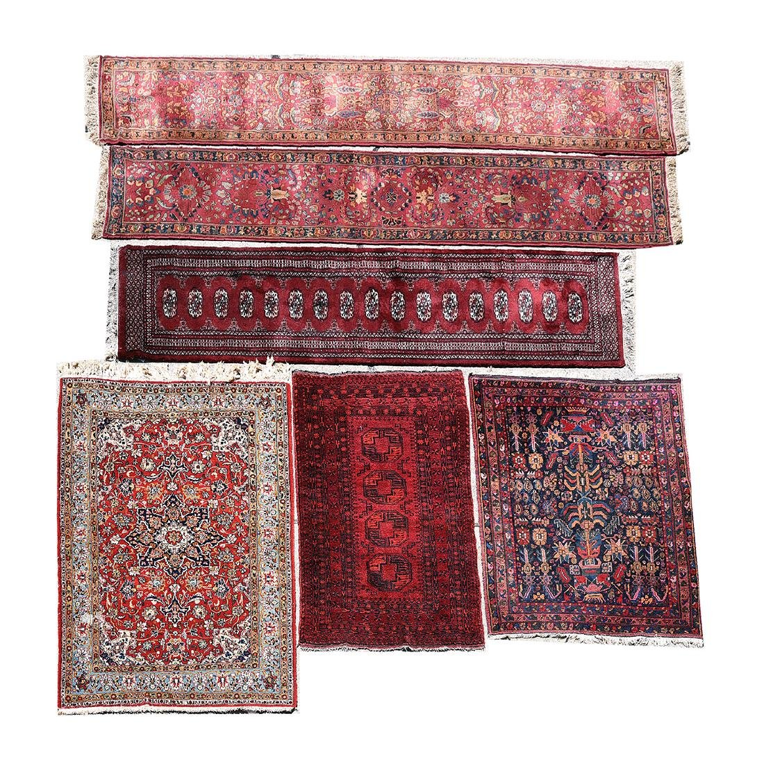 Pair of Agra Runners, Pakistan Runner, Afghan Bokhara