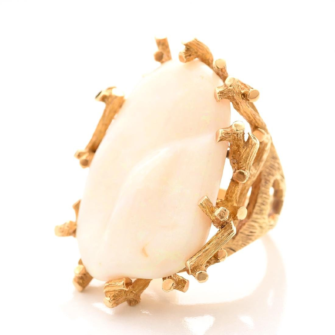 Virgilio Opal, 14k Yellow Gold Ring. - 2