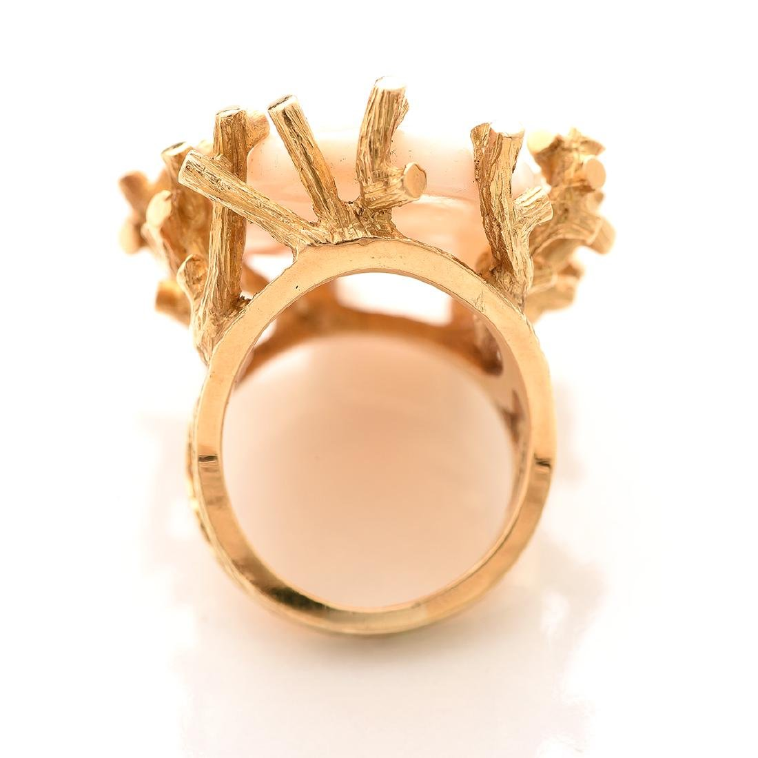 Virgilio Opal, 14k Yellow Gold Ring. - 3