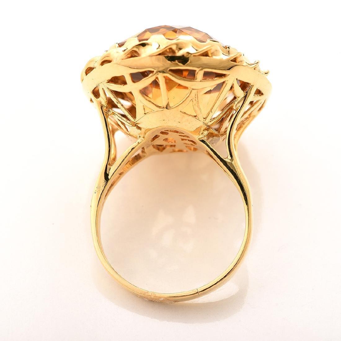 Citrine, 14k Yellow Gold Ring. - 3