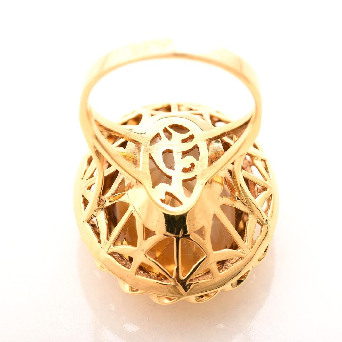 Citrine, 14k Yellow Gold Ring. - 4