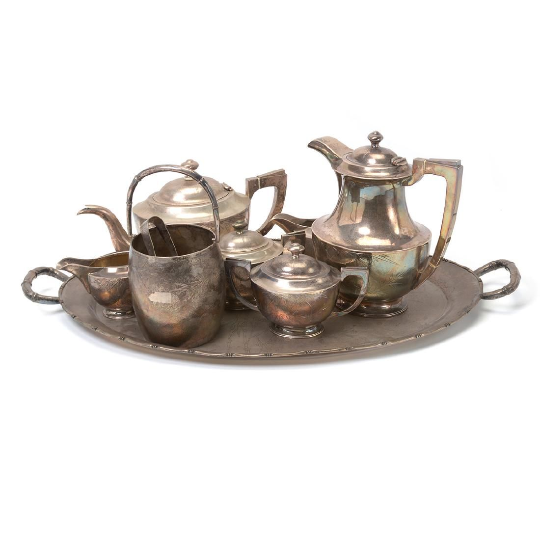 Chinese Export Sterling Silver Tea Service