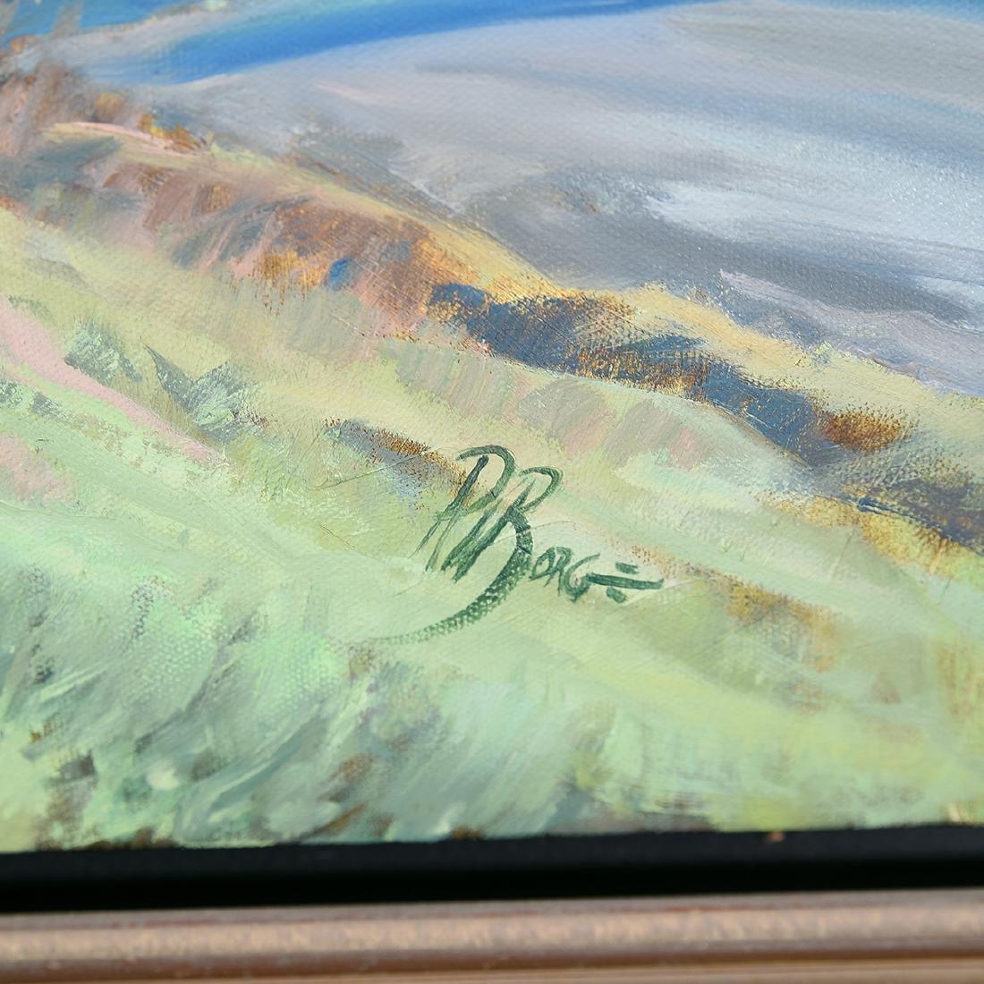 """Ralph Borge """"Hillside Farm"""" oil on canvas - 2"""