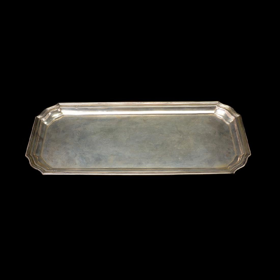 Four Sterling Silver Trays, Two Footed English, One - 2