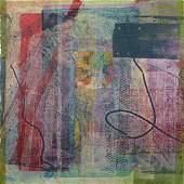 Sam Gilliam Paducah mixed media print on handmade