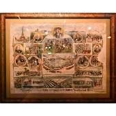 Framed Advertisement, Buffalo Bill's Wild West