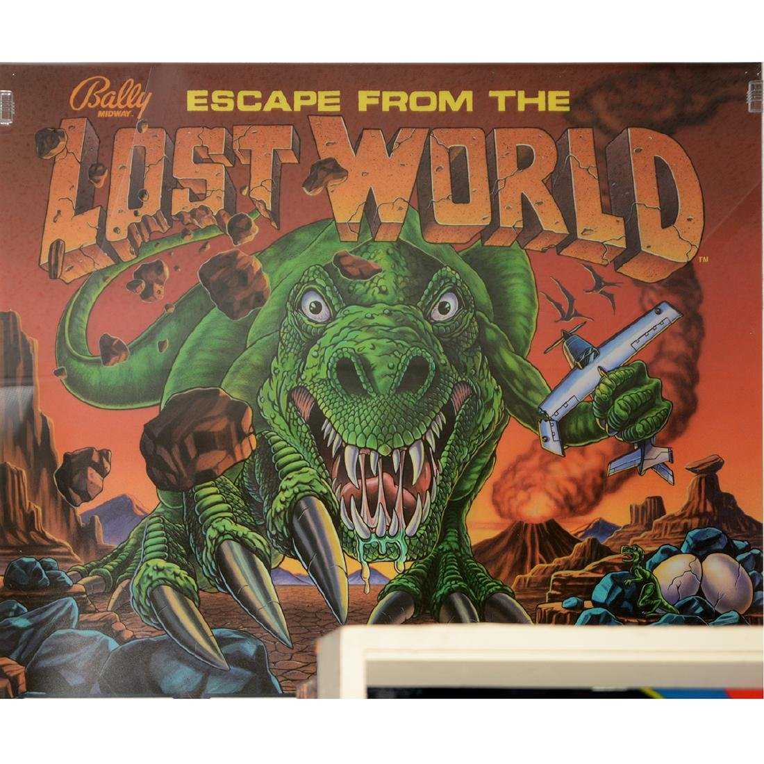 Escape From the Lost World Pinball Translite, Bally