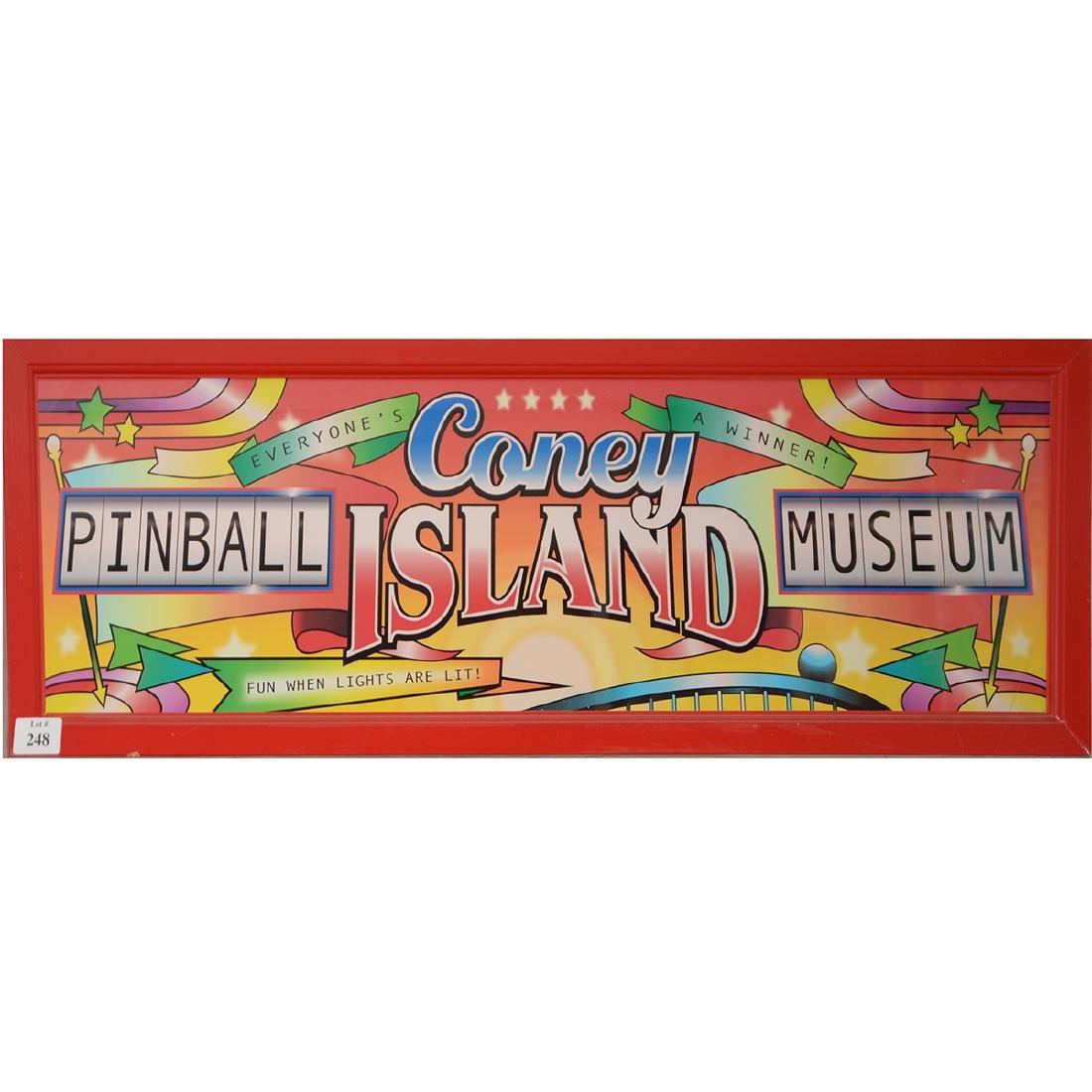 Coney Island Pinball Museum Light up Sign