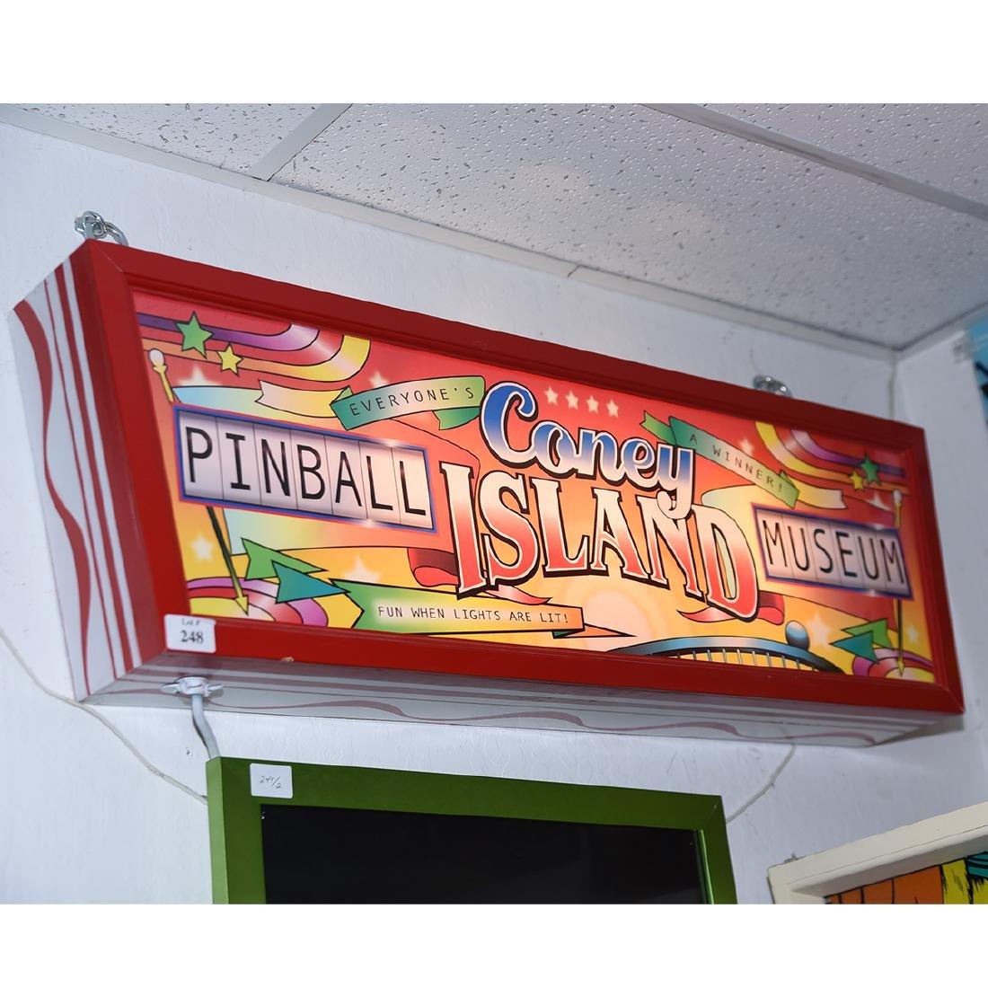 Coney Island Pinball Museum Light up Sign - 2