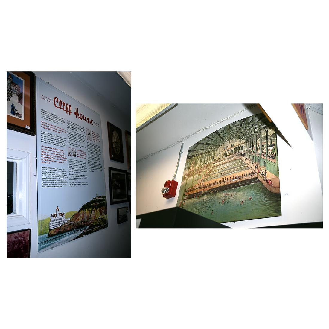 2  Sutro Baths Signs, 1 Particle Board / Other Plastic