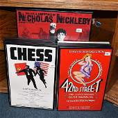 Group of Framed Musical Posters