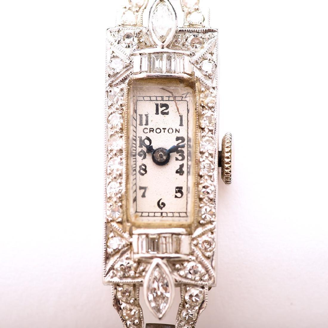 Ladies Croton Diamond, Platinum, 14k White Gold - 2