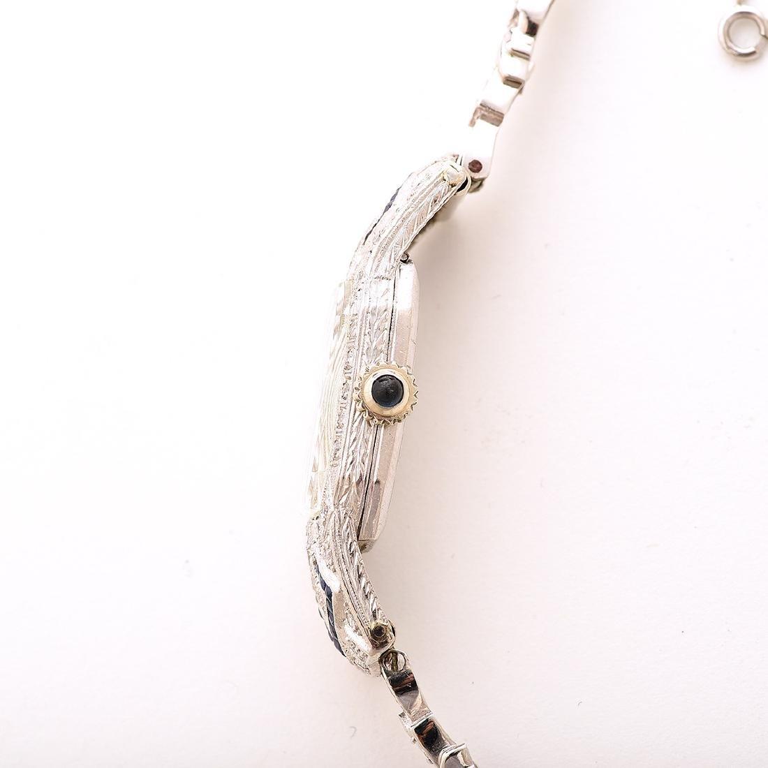 Ladies Diamond, Sapphire, Platinum, 14k White Gold - 3