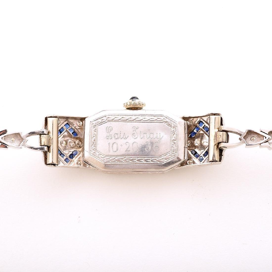 Ladies Diamond, Sapphire, Platinum, 14k White Gold - 4