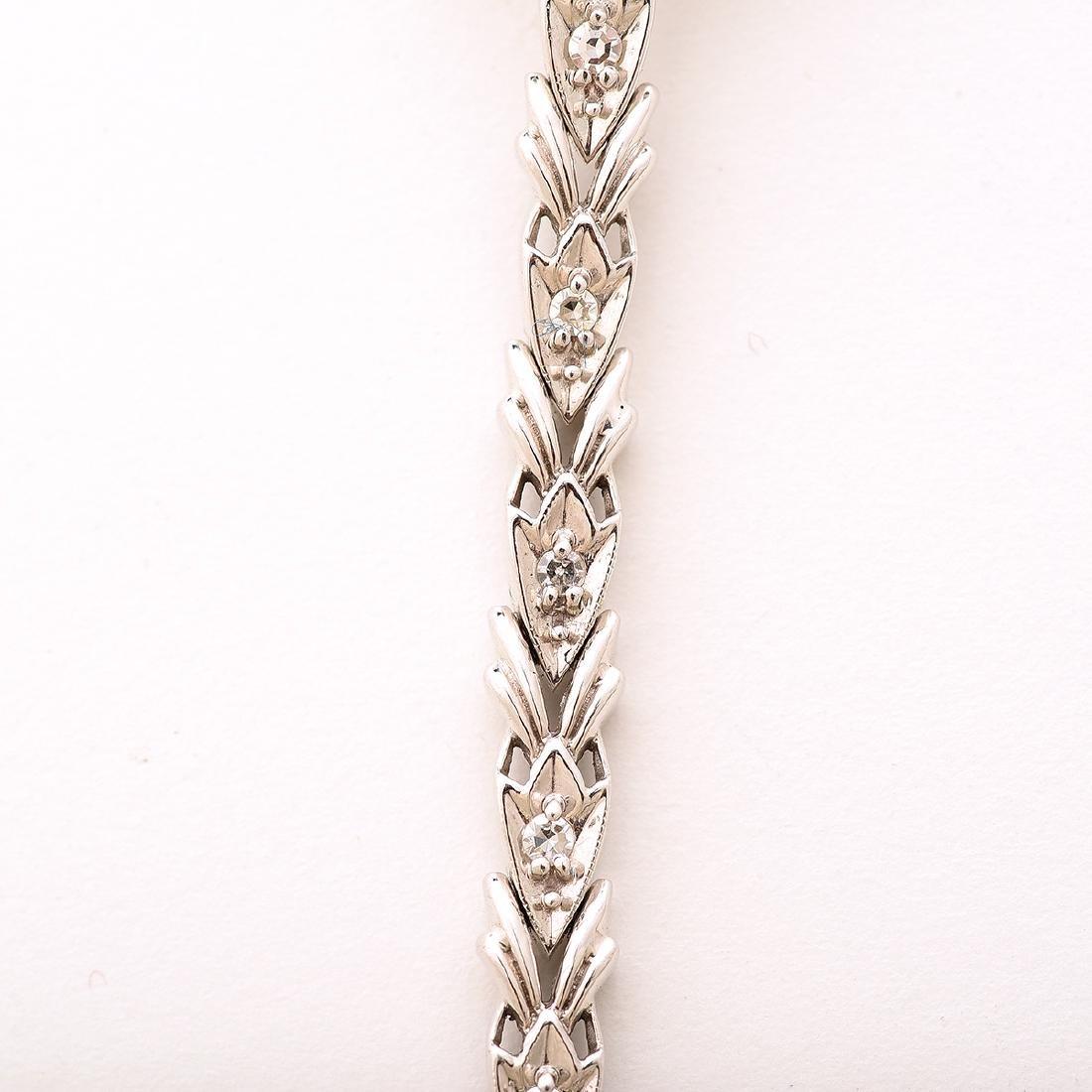 Ladies Diamond, Sapphire, Platinum, 14k White Gold - 5