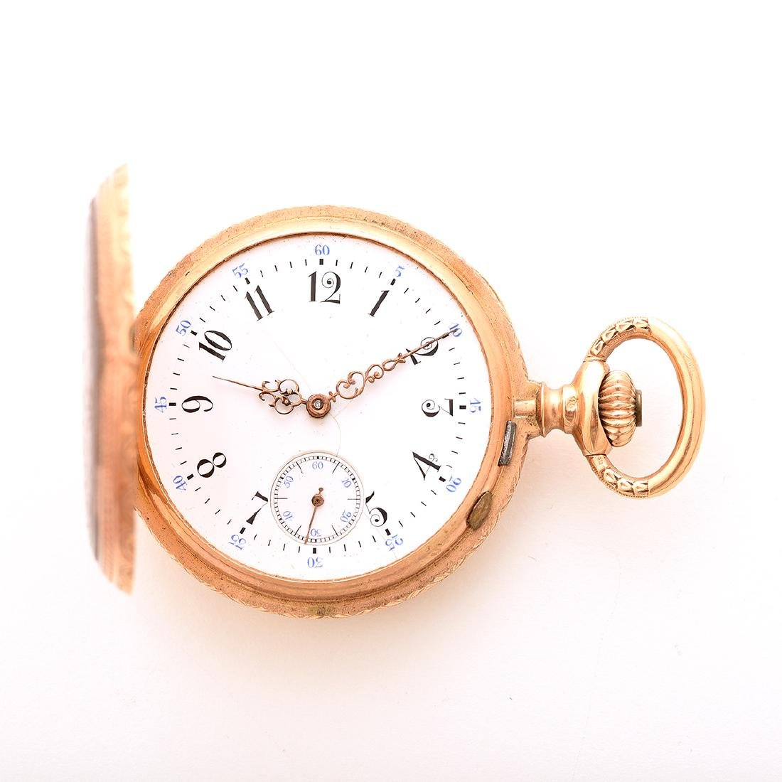 18k Yellow Gold Pocket Watch. - 3