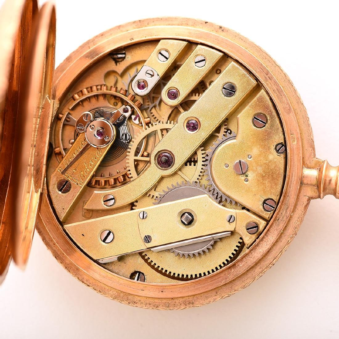 18k Yellow Gold Pocket Watch. - 6