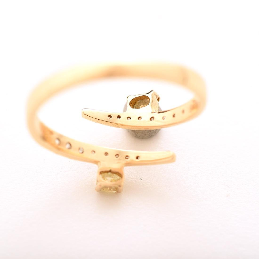 Diamond, 18k Yellow Gold Bypass Ring. - 4